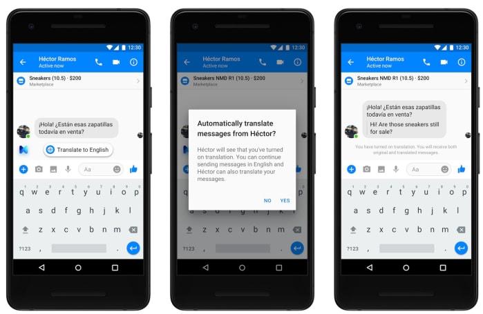 Facebook Messenger will begin translating English to Spanish soon