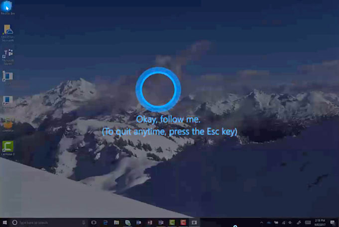 Cortana may talk users through Windows settings with 'follow me'