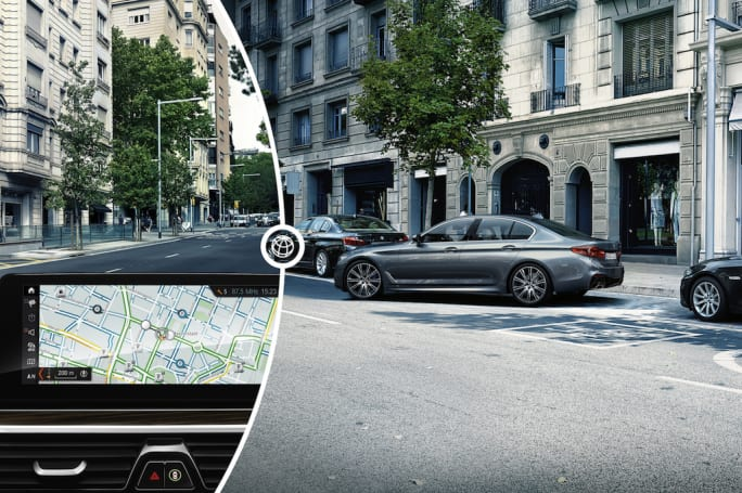 BMW 5 Series sedans relieve parking woes with real-time updates