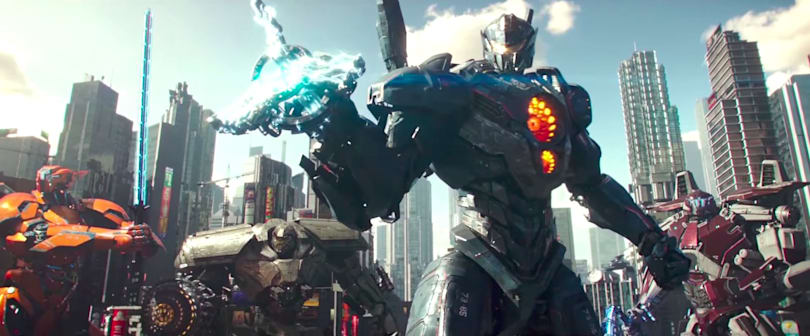 'Pacific Rim Uprising' trailer pits John Boyega against kaiju