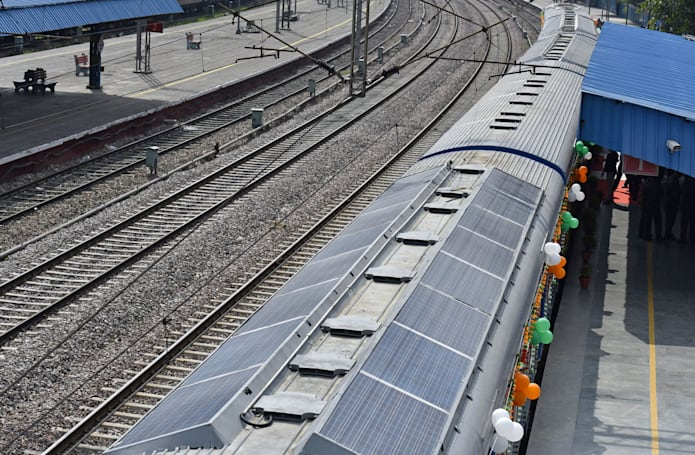 India's first solar-powered train makes its debut
