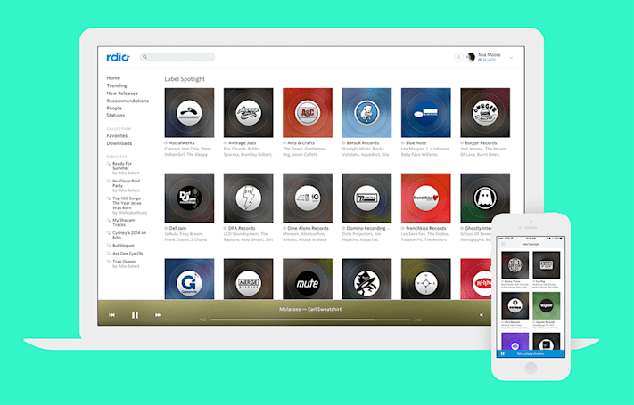 Rdio will transition subscribers to free accounts after November 23rd