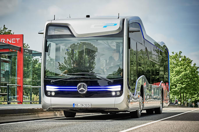 Mercedes' autonomous bus makes a landmark trip on public roads