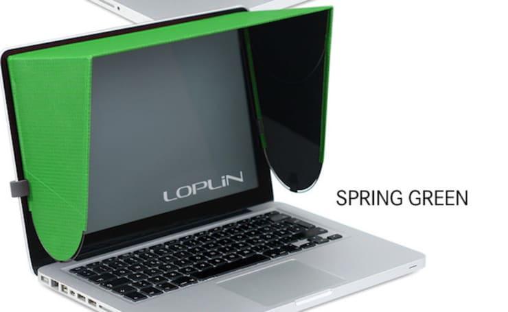 Lightweight Loplin Hood designed to shade your MacBook screen