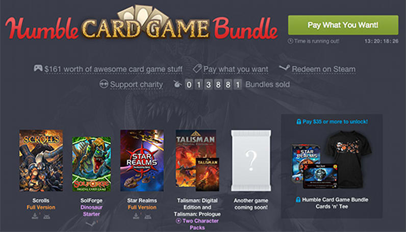 Humble Card Game Bundle deals out Scrolls, Star Realms