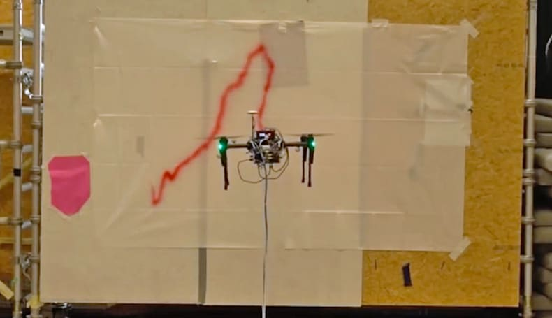 Disney's spray-painting drone could end the need for scaffolding