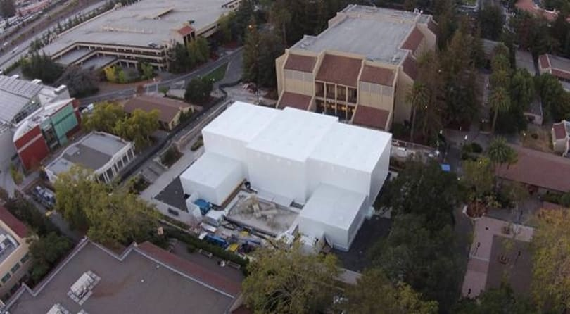 Overhead view of Apple's event building