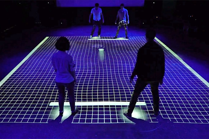 Play giant-sized 'Pong' by shuffling your feet