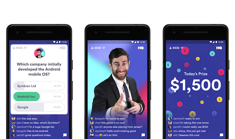 Trivia hit HQ arrives on Android in time for New Year's Eve event
