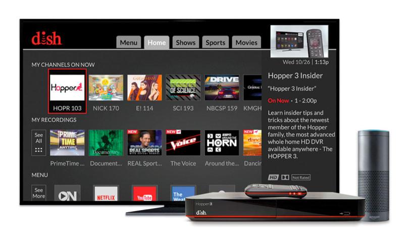 Dish brings Alexa and multi-room music to Hopper DVRs