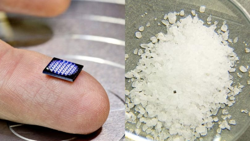 IBM's tiniest computer is smaller than a grain of rock salt