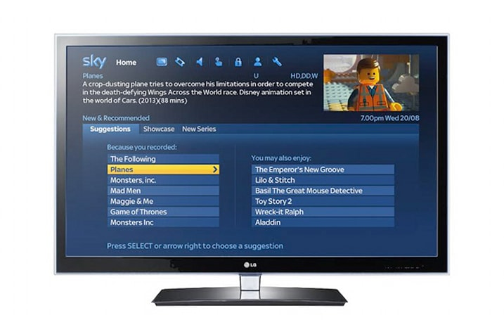 Sky's new program guide will recommend you new shows to try