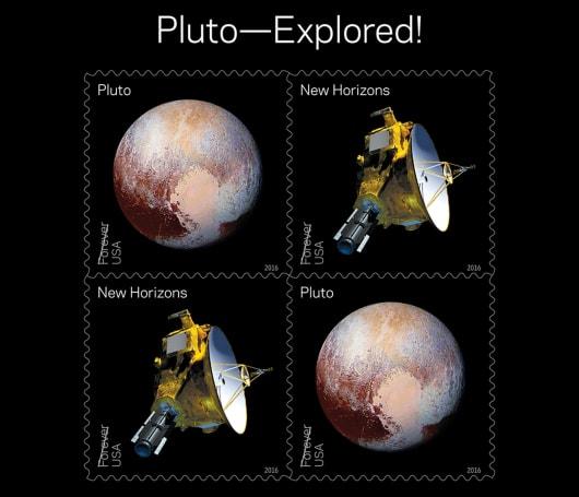 USPS' 2016 stamps celebrate Pluto's exploration