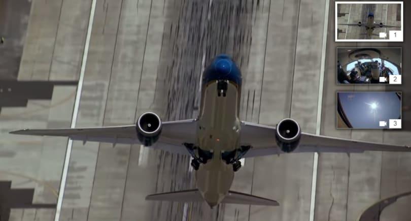 在 YouTube 上以多角度看波音 787-9 特技飞行