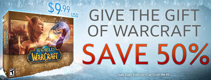 World of Warcraft 50% off for a limited time
