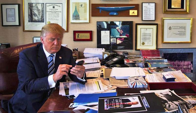 Trump trades 'unsecure' Android device for shiny new iPhone