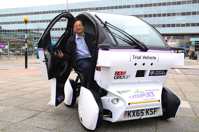 UK's first driverless 'pod' readies itself for public trials