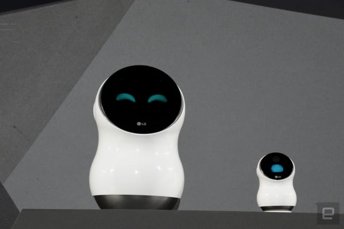 LG's robots control your home and guide you through the airport