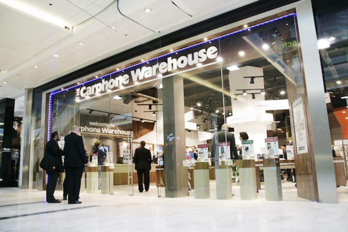 Carphone Warehouse staff will help you choose the best network for your area