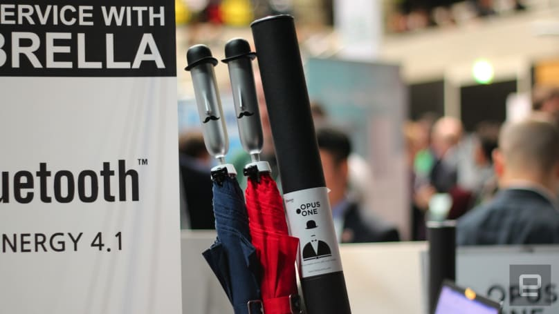 Former Samsung engineers build a smart umbrella