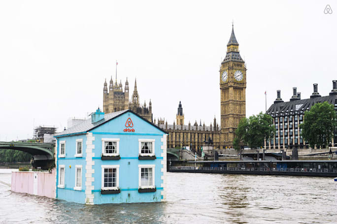 Airbnb is floating a liveable house down the River Thames