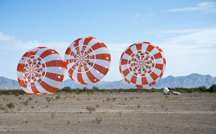 Watch NASA test Orion's parachutes by dropping it from a plane