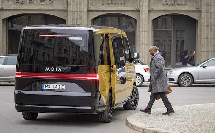VW unveils an electric van for its MOIA ride-sharing service