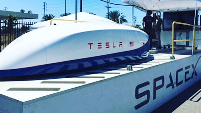 Tesla's Hyperloop 'pusher pod' sets 220MPH speed record