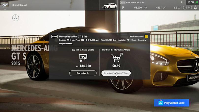 'Gran Turismo Sport' update lets you pay real money for cars