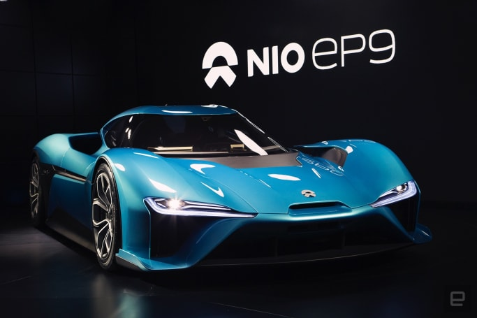 The NIO EP9 is the 'world's fastest' all-electric supercar