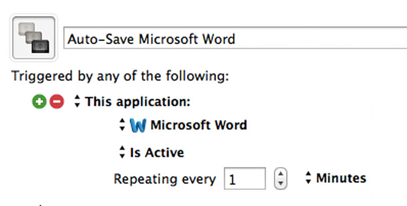 Auto-Save Microsoft Word with Keyboard Maestro