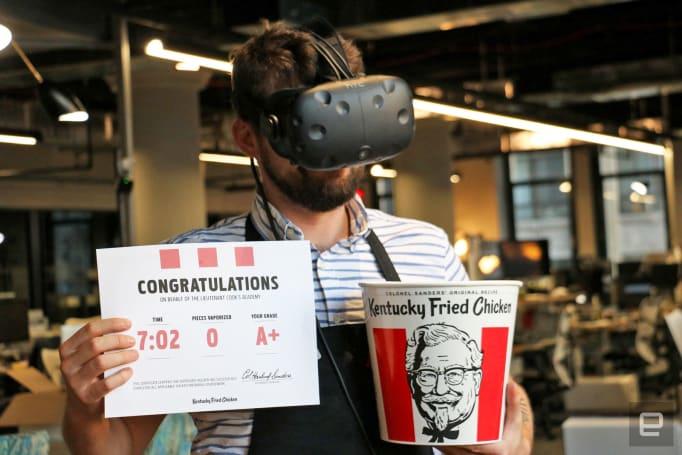 KFC's bizarre VR game isn't ready to revolutionize work training