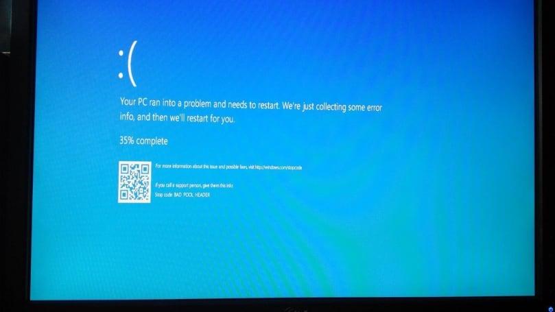 微软为蓝屏当机画面加上说明错误的二维码