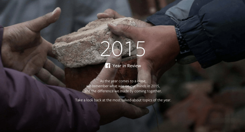 Facebook's 2015 review video puts the year in perspective