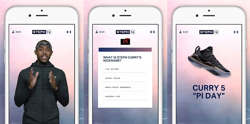 Under Armour takes on HQ Trivia with the help of NBA star Steph Curry