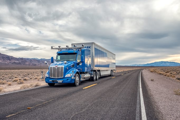 Embark's semi-autonomous trucks are hauling Frigidaire appliances