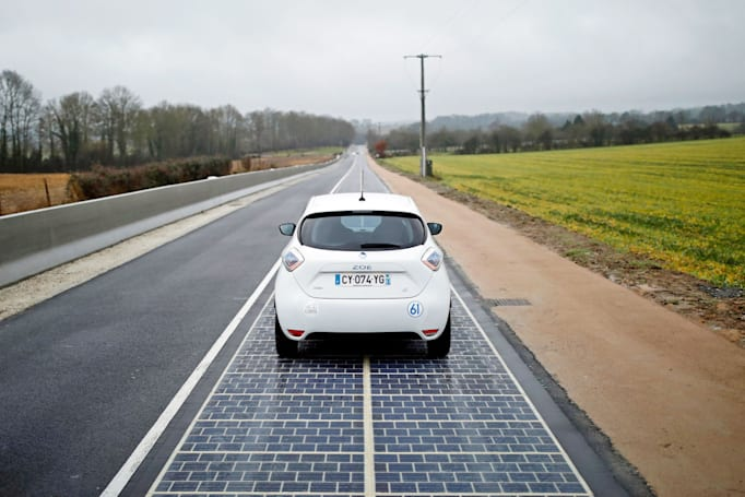 A French town just installed the world's first 'solar road'