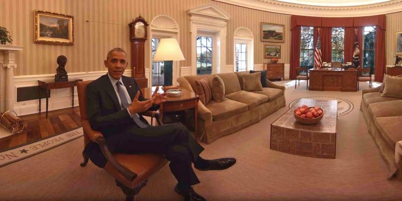 The Obamas bid farewell with a VR White House tour