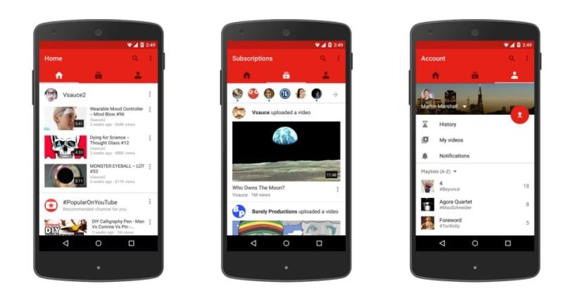 YouTube 新版本手機應用程式登場,3D VR 影片不日上映