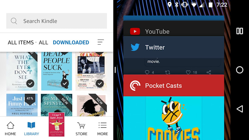 Android 版 Kindle App 终于加入了屏幕分割的功能