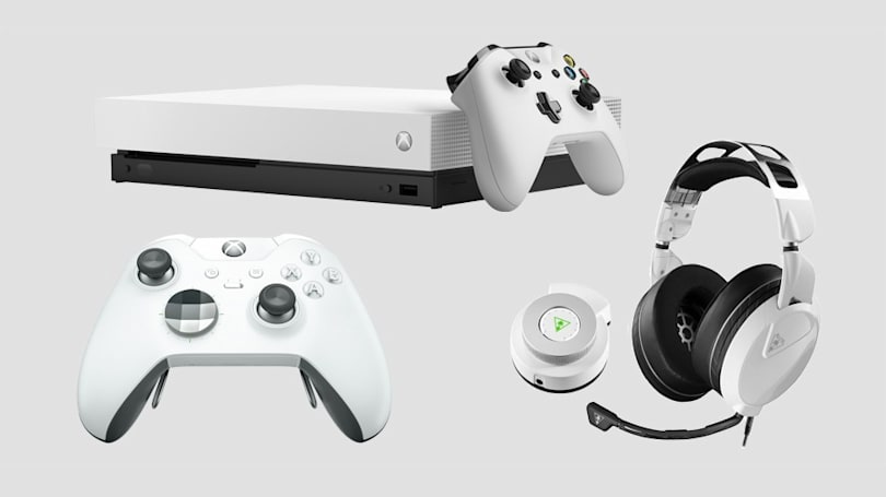 Microsoft is launching a white Xbox One X console and controller