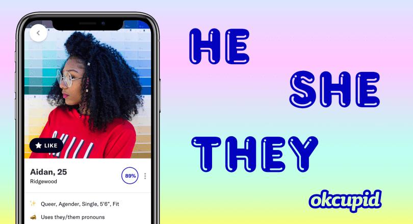 OKCupid users can choose a pronoun to display in their profile