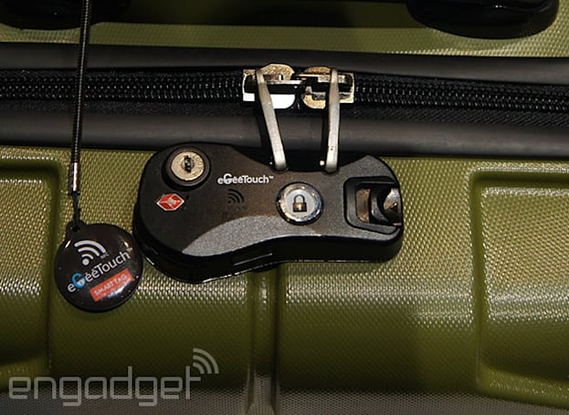 The key to unlocking this smart luggage lock is NFC