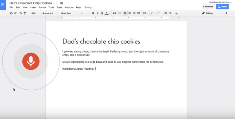 Google Docs now lets you edit and format text with your voice