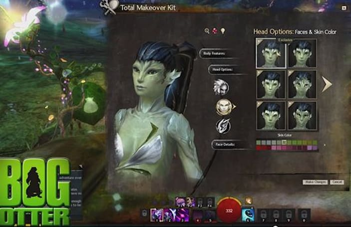 A video preview of Guild Wars 2's brand-new character faces
