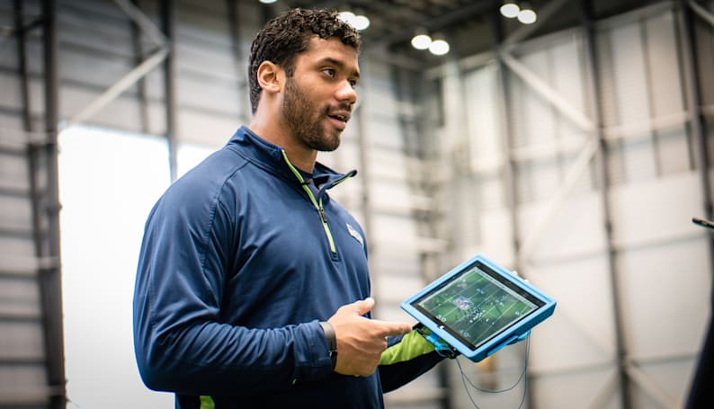 Seahawks QB Russell Wilson on Surface Pro, how he was once an Apple guy