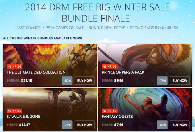 Weekend deals include GOG bundles, Shadow of Mordor, Wii U bundles, 3DS XLs