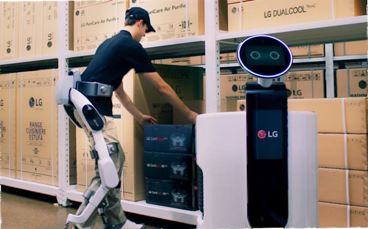LG adds an exoskeleton to its line of CLOi robots