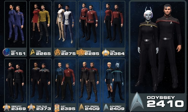 Star Trek Online sells costumes at a discount this weekend