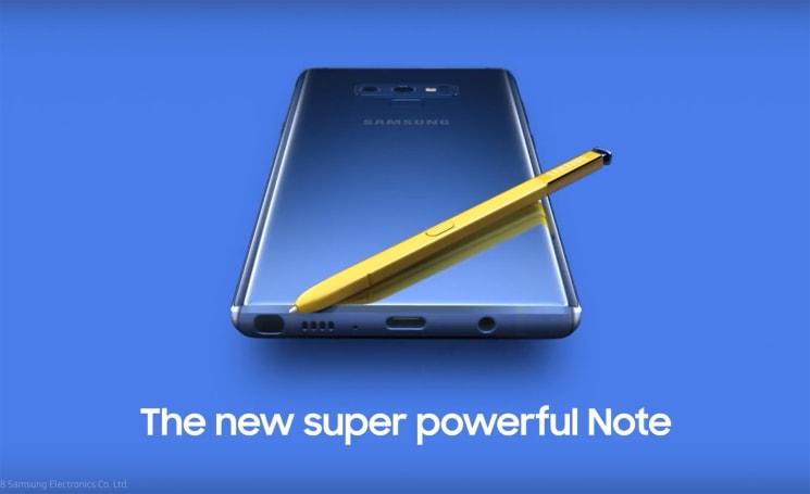 Samsung 不小心自己把 Galaxy Note 9 給洩漏了